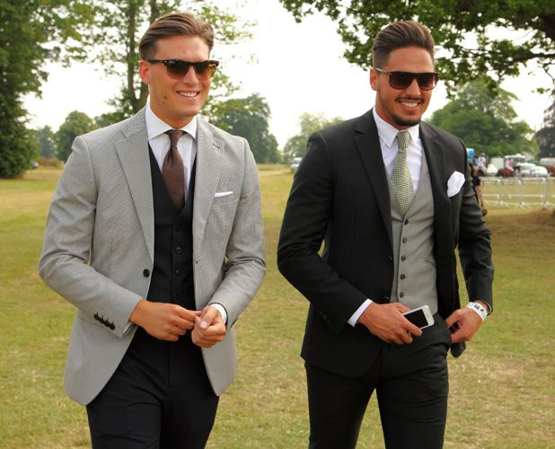 TOWIE's Mario Falcone and Charlie Sims enjoy lads' day out at Polo event 15 JULY 2013