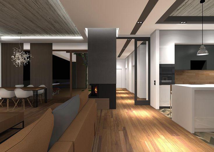 Wnętrze domu w Rybniku - Struktura – Biuro Architektoniczne