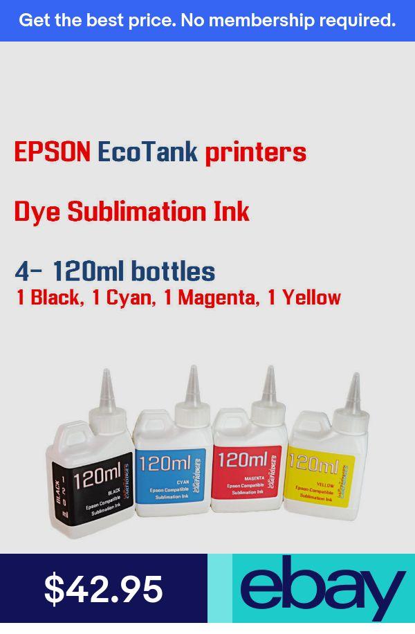 Dye Sublimation Ink - Epson EcoTank Printers - 4 Multi-Color