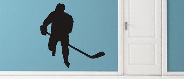 Hokejista (1416) / Samolepky na zeď, stěnu a nábytek