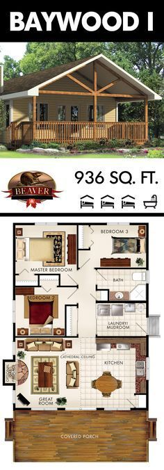 As a very cost-effective design, every inch of the Baywood I is used to perfection and includes everything you need for a comfortable family #home. #BeaverHomesandCottages – Ginny Langille