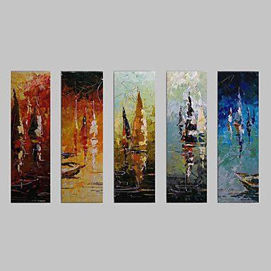 【今だけ☆送料無料】 アートパネル  抽象画5枚で1セット 海 オーシャン ヨット 帆船 プレゼント 【納期】お取り寄せ2~3週間前後で発送予定