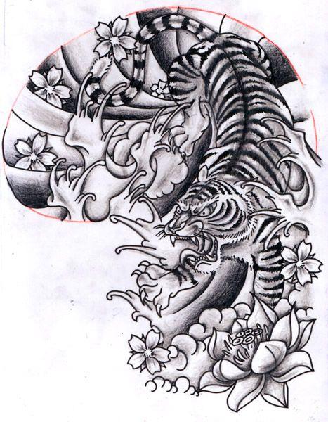 12Oct2011: Oriental inspired Tiger Half Sleeve Design | Flickr - Photo Sharing!