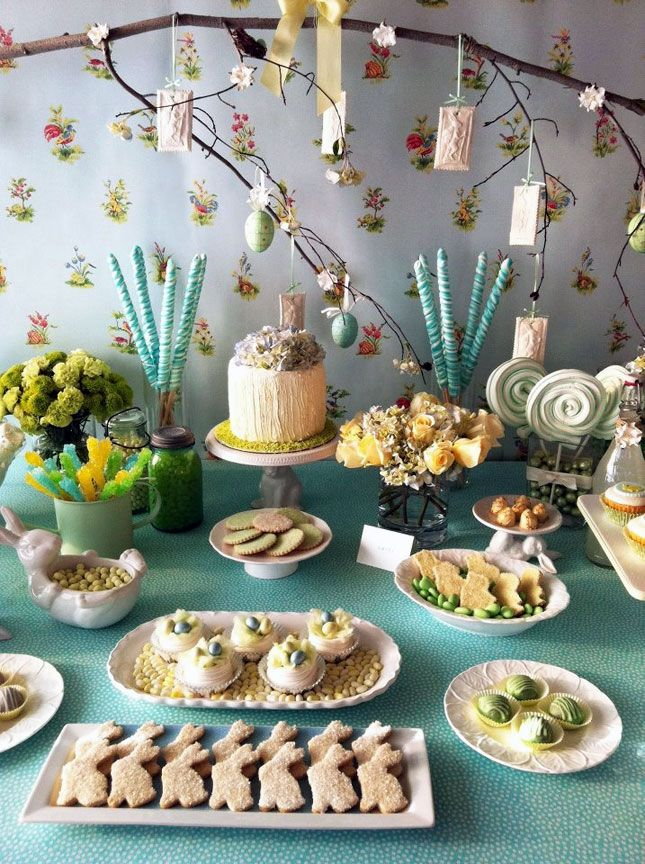 Colorful Dessert Table | Easter + Spring Table Decor