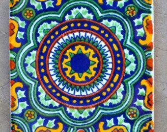 100 mix piastrelle Talavera messicana di myrustica su Etsy