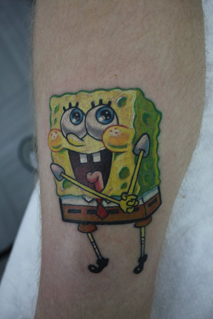 spongebob tattoos for women