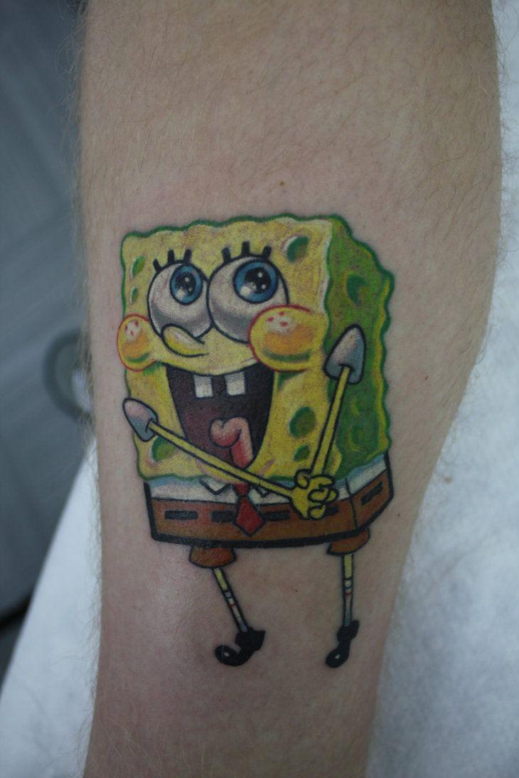 spongebob tattoos for women