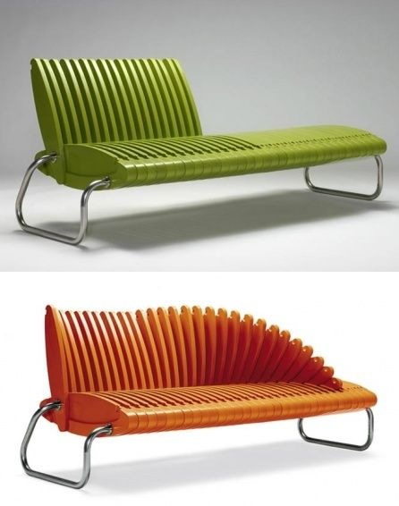 Folding Bench...would be a pretty neat urban feature - the ability to sit/interact/create!