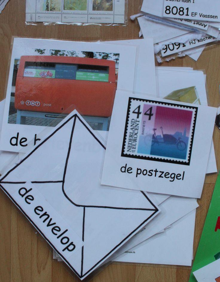 Woordkaarten bij het Thema Post