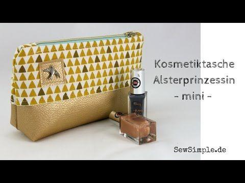 kosmetiktasche mit kunstleder nhen schnittmuster youtube - Fantastisch Schlsselanhnger Selber Machen