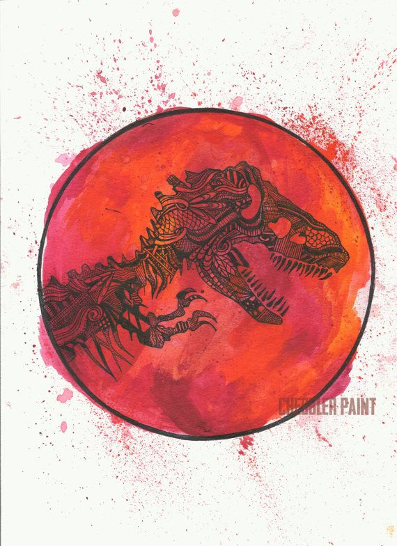 Jurassic Park Logo - Vertical Print