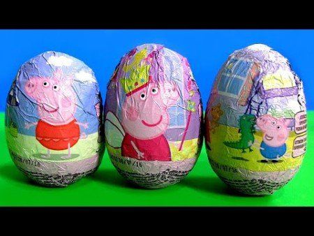 Peppa Pig Toys Surprise Easter Eggs Chocolate Nickelodeon George with Dinosaur a… – Kid crafts