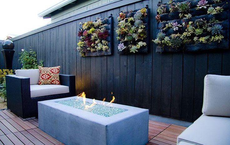 mur végétal créatif et original à faire soi-même en palettes de bois