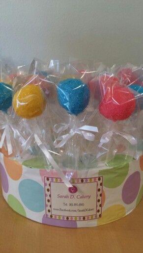 Colorful cake pops www.facebook.com/Sarahdcakery
