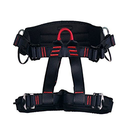 Climbing Harness  Ingenuity Professional Mountaineering Rock Climbing HarnessRappelling Safety Harness  Work Safety Belt Black 1 >>> Read more  at the image link. This is an Amazon Affiliate links.