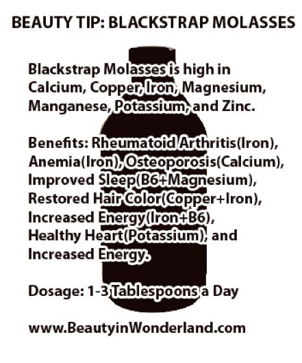 blackstrap molasses another link: http://beforeitsnews.com/health/2013/06/unsulphured-blackstrap-molasses-benefits-a-mostly-ignored-inexpensive-superfood-2494822.html