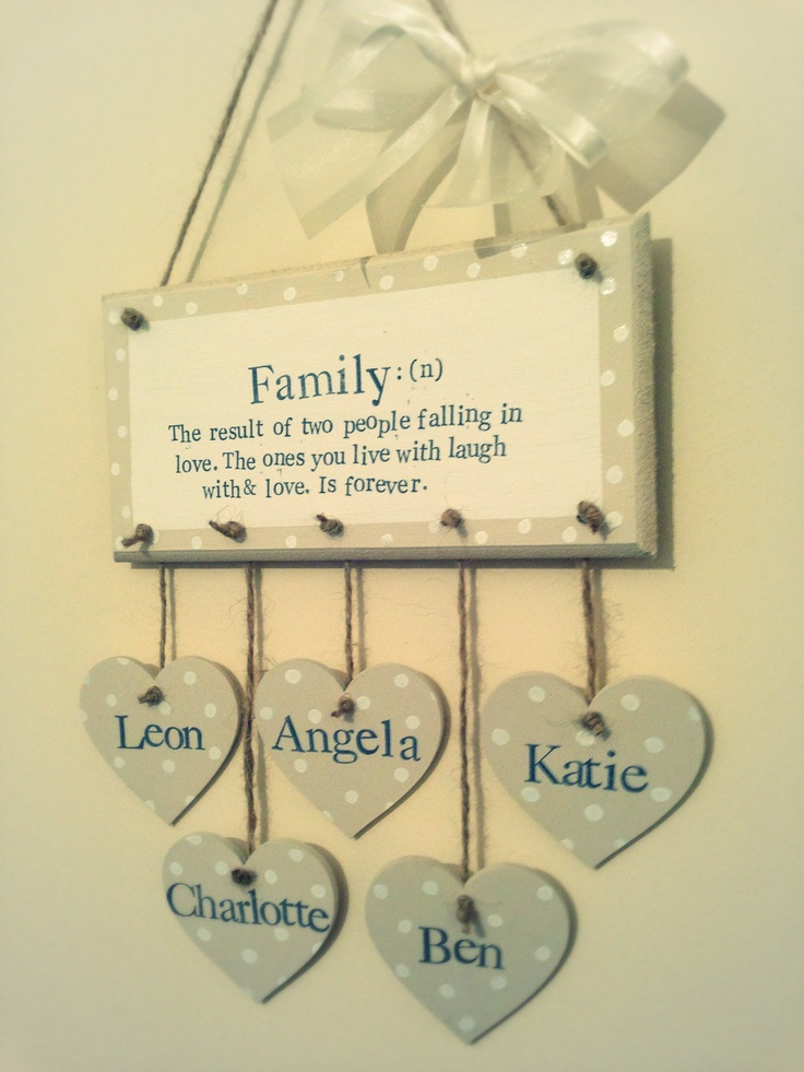 Family definition plaque  <3  Find us on Facebook Evie's Attic