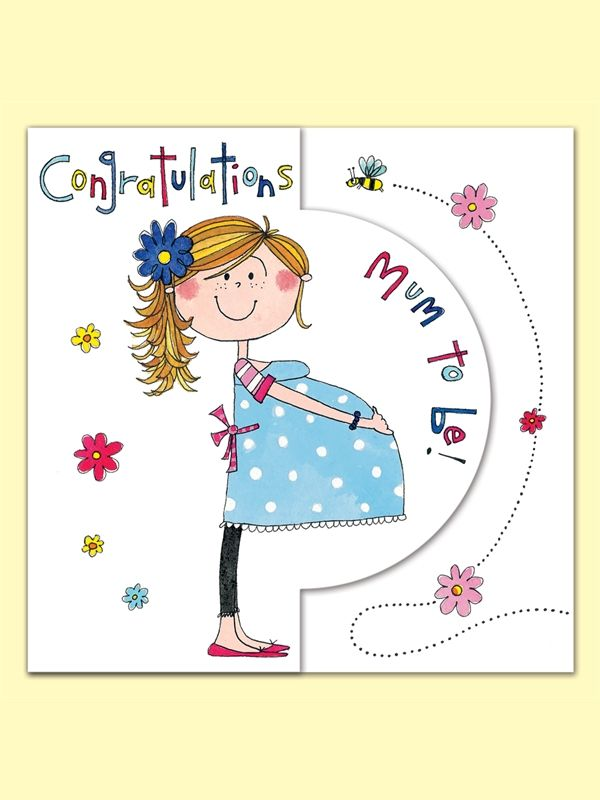 Congratulations Mum to Be Greeting Card from Rachel Ellen Designs