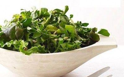 Σαλάτα σπανάκι-μαρούλι-ρόκα