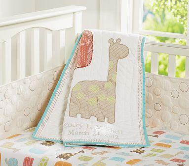 Organic Safari Animals Nursery Bedding #pbkids