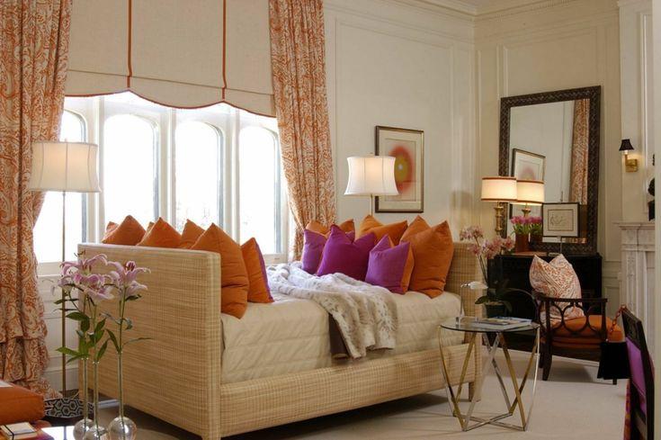 Décoration de salon – 55 idées avec des coussins, tableaux, rideaux et plus