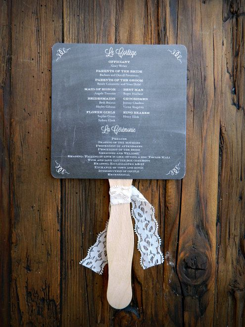 The 25 best fan wedding programs ideas on pinterest diy wedding chalkboard wedding program fans diy by paperandlaceaustin on etsy solutioingenieria Image collections