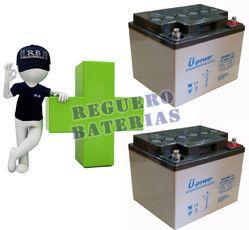 Conjunto de 2 Baterías GEL 12 Voltios 40 Amperios para Aplicaciones Ciclicas U-POWER UPG40-12
