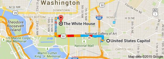 Map From United States Capitol East Capitol Street Northeast - White house on us map