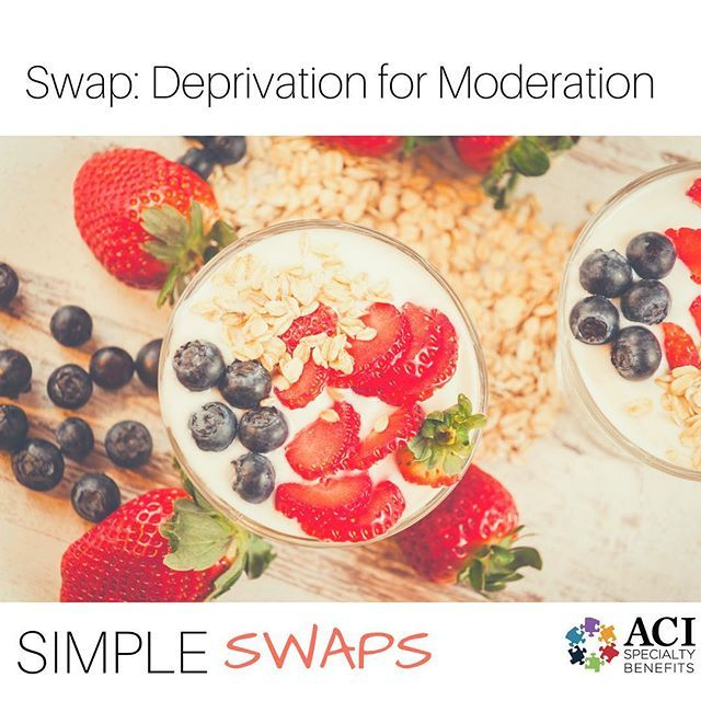 Trying to avoid sweet treats all together can be difficult. Try this smiple swap to keep your favorite foods in your diet, just in smaller portions. #health #wellness #healthyliving #eatwell #yum #fruit #treat