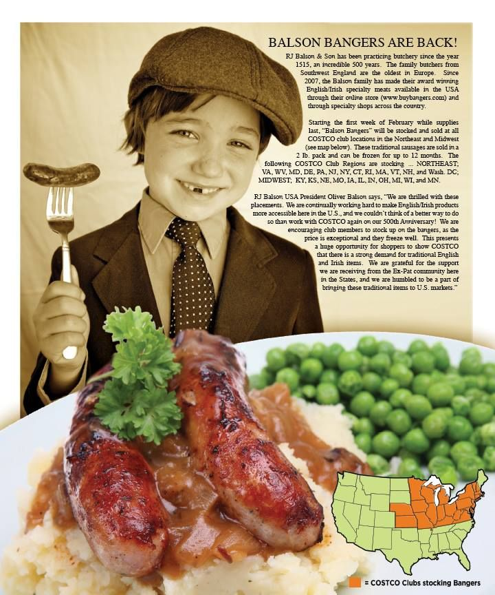 St. Patrick's Day Sausages!!!  Bangers and Mash!!!!   www.buybangers.com