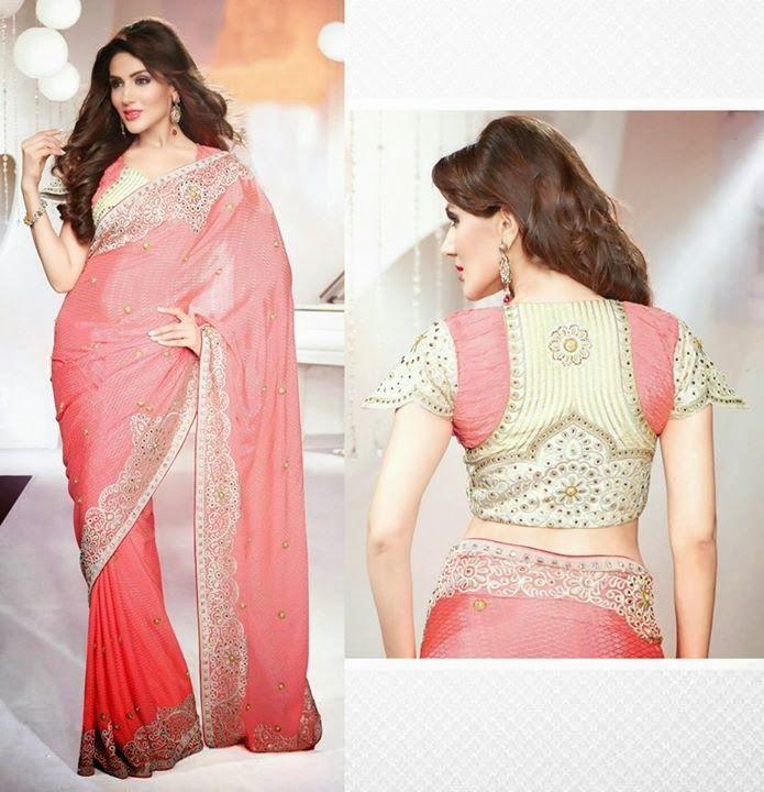 Latest Saree Collection 2015, Saree Neck & Blouse Collection 2015