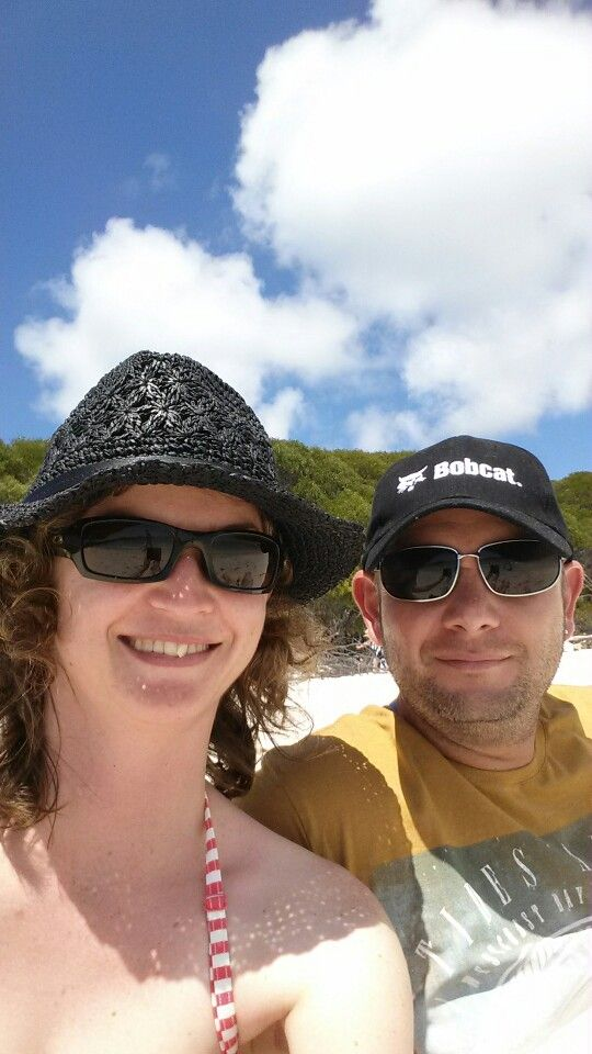Chilling at Whitehaven Beach