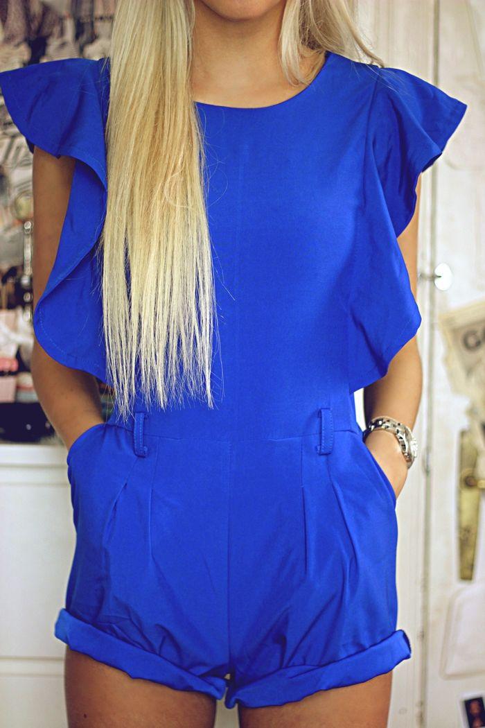 royal blue romper. <3