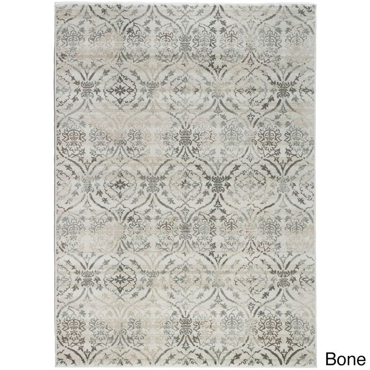 Admire Home Living Plaza Brazil Area Rug (3'3 x 4'11) (3'3 x 4'11 - Bone), Ivory (Olefin, Abstract)