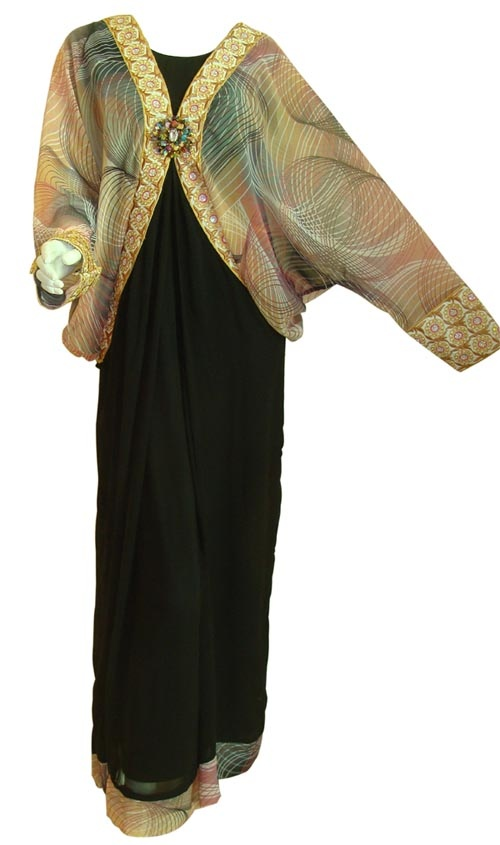 Western Style Fancy Abaya Dress