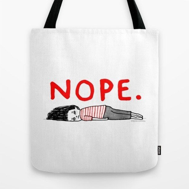 A tote for people who like lying on floors when things get rough.