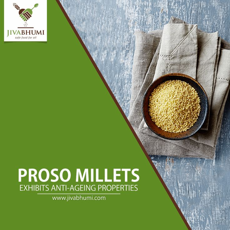 Proso Millets are a good source of antioxidants and help in removing free radicals from the body that cause wrinkles. Add Proso Millets to daily diet for a better skin. Shop now: http://bit.ly/shop_jivabhumi #FarmFood #NaturalFood #Millets #Jivabhumi