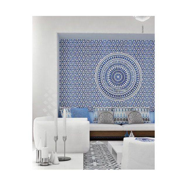 20 ambiances orientales pour pimper sa déco voir plus salon mosaïque blanche et bleue style oriental
