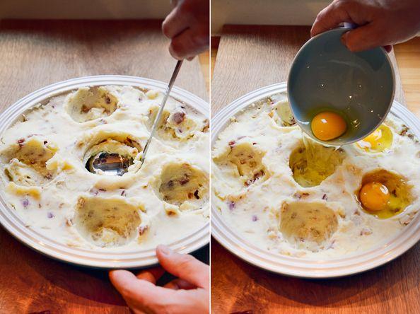 Eggs in potato