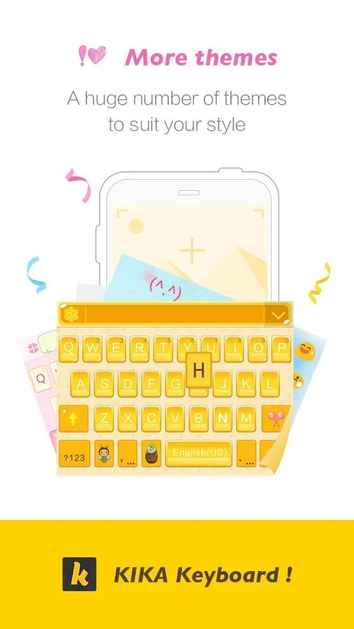 Kika Keyboard - Emoji Keyboard - screenshot