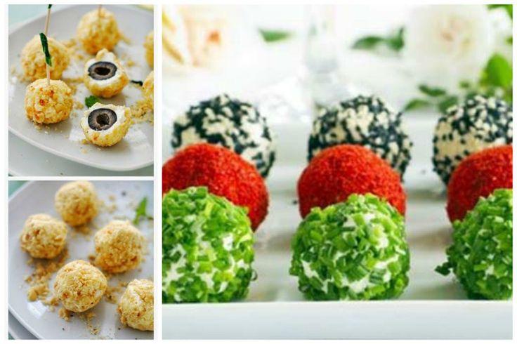 Очень советую сырные шарики - это простор для фантазии - шарики с рыбой, с мясом, с зеленью. Главная основа - перетертые плавленные сырки с чесноком - внутрь что угодно, обсыпка - что угодно от паприки, до орешков