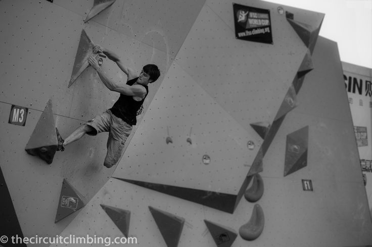 Jan Hojer winning the first Boulder World Cup of 2014 in Chongqing, China