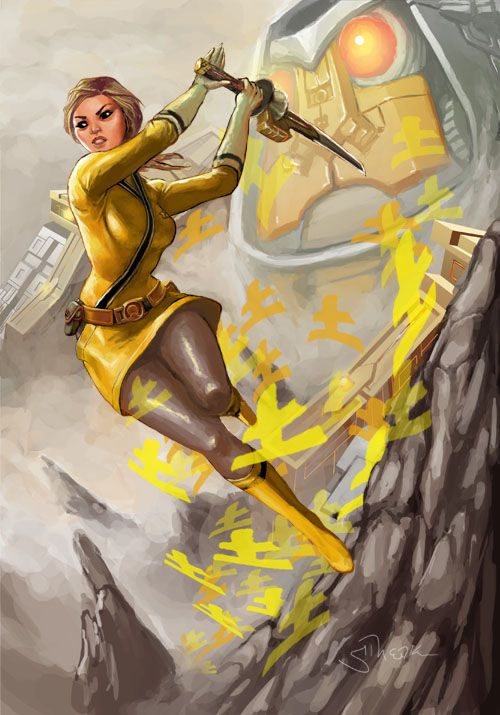 Yellow Power Rangers Samurai by Sopeh.deviantart.com