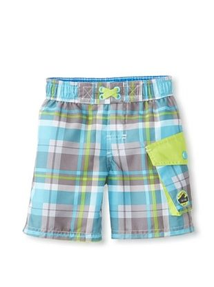 56% OFF Rugged Bear Baby-Boys Infant Plaid Short (Turquoise)