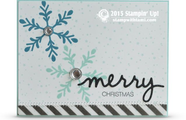 CARD: Holly Jolly Part I – Merry Snowflakes card | Stampin Up Demonstrator - Tami White - Stamp With Tami Crafting and Card-Making Stampin Up blog