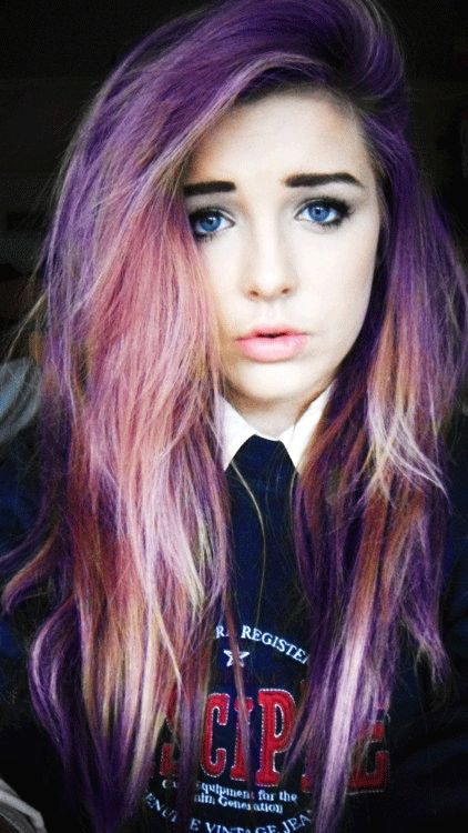 Colored Hair Tumblr Multi Color Hair On Tumblr Colored