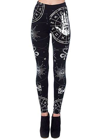 Bewitched Hand Mystic Leggings at PLASTICLAND