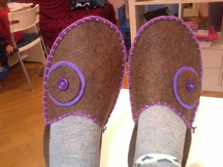 Pantofole in feltro - tutorial