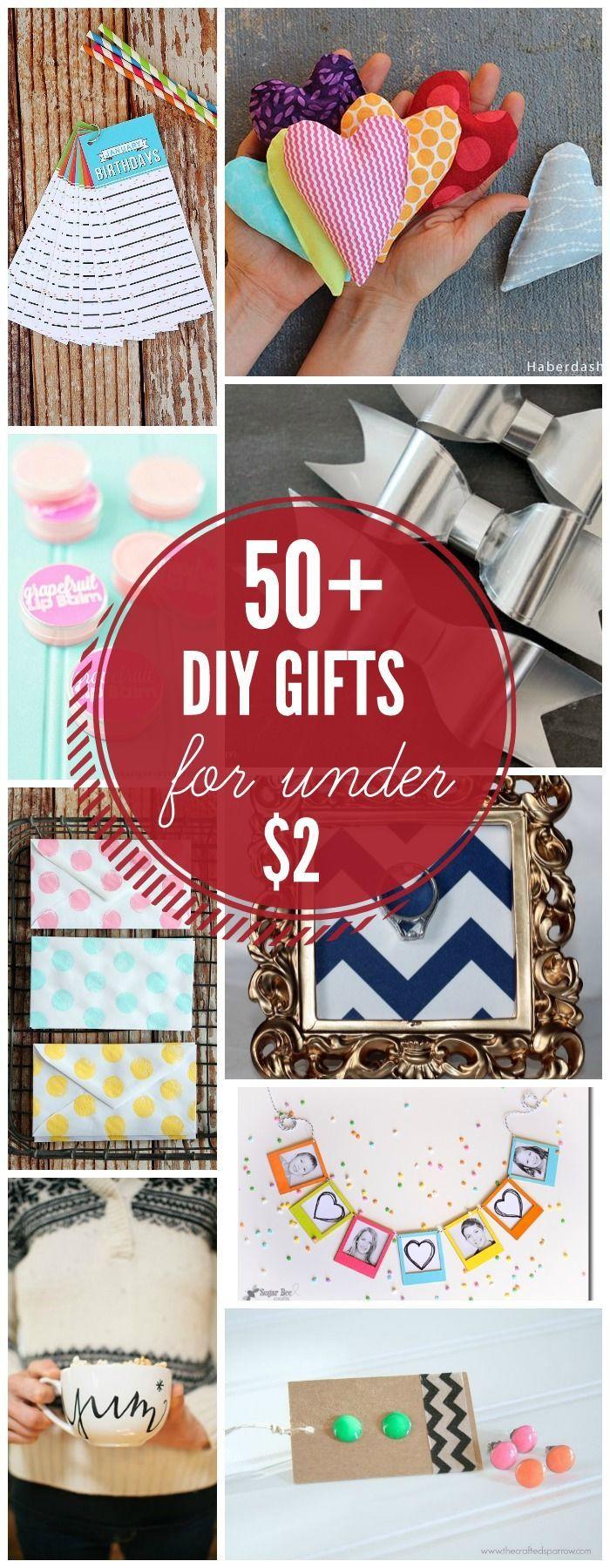 50 Handmade Gift Ideas for under 2