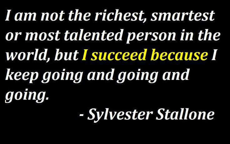 Sylvester Stallone Quotes - There's A Reason Behind Success........  For more quotes from Sly, Go To:   http://badassbutton.com/sylvester-stallone-quotes